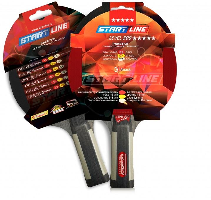 Ракетка для настольного тенниса Start Line Level 500 (анатомическая ... e167cf8562f25